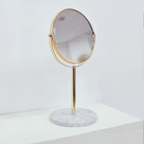 천연대리석 골드프레임 탁상 화장거울