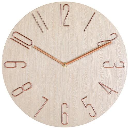 아날로그 인테리어 35cm 저소음 벽걸이 시계 GW003-RG
