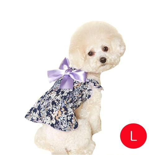 강아지 로코코 고무밴드 원피스 바이올렛 L