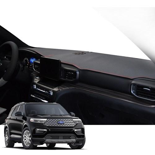 K 포드 익스플로러 매트 카본 자동차 대쉬보드 커버 DashF01