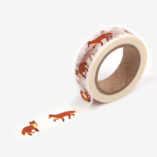 Dailylike Masking Tape Single 50 Winter fox